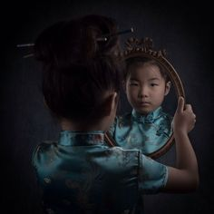 #portrait #girl #child #chinese #dress #tradition #identity #search #mood #feeling #mirror #self #light #dark #rsa_portraits #tv_moods #project_uno #style #model Juna #miloukrietemeijerdirks #whphiddenbeauty by milou040