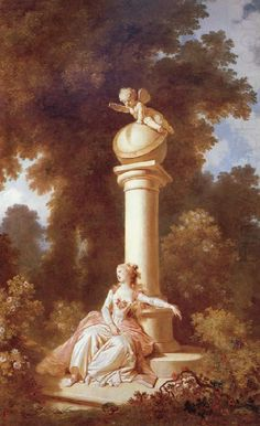 by artist Jean-Honore Fragonard. hand-painted museum quality oil painting reproduction on canvas. Rococo Painting, Oil Painting Reproductions, Fragonard Paintings, Jean Antoine Watteau, Art Amour, Jean Honore Fragonard, Tableaux Vivants, French Paintings, Classic Paintings