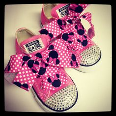 The Minnie  Customized Converse and more with Swarovski Crystals 1ed5dff65b4