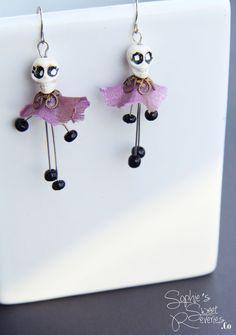 Day of the Dead Skull Earrings, Skull Earrings, Halloween Earrings, Halloween Jewelry