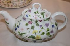 Vintage Rosina/Queen's Country Meadow Teapot. VictorianHighTea.com collection.
