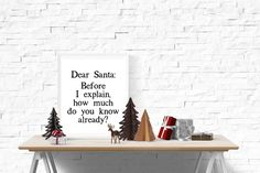 Funny Xmas Quotes, Santa Letter, Dear Santa, Christmas Printables, Gift Tags, Things To Sell, Christmas Decor, Greeting Cards, Letter From Santa