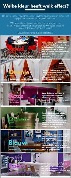 De beste kleur op kantoor - infographic Infographic, Infographics, Visual Schedules
