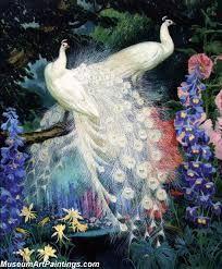 Risultati immagini per peacocks paintings