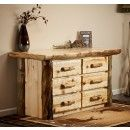 Aspen Lodge 6 Drawer Log Dresser
