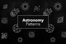 Astronomy and Space Patterns by CreativesCastle on @creativemarket