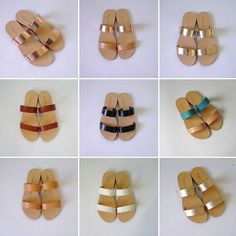 One design limitless colour combinations ♥  #sandals #sandelles #fashionblogger #fblogger #ootd #wiwt #ss16 #summer2016 #besboke #tailormade #flat #leather #tagsforlikes #tan #white #turquoise #gold #bronze #rosegold #brown #chocolate #greeksandals #blogger