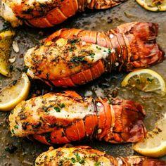 Poached Lobster, Grilled Lobster, Lobster Meat, How To Cook Lobster, Red Lobster, Grilled Fish, Bbq Lobster Tails, Broil Lobster Tail, Cooking Lobster Tails
