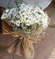 Daisy flower arrangement ideas Source by Boquette Flowers, Beautiful Bouquet Of Flowers, Luxury Flowers, Fresh Flowers, Planting Flowers, Beautiful Flowers, Wedding Bouquets, Wedding Flowers, Flower Bouquet Diy