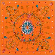 Hermes silk twill giant scarf, 56