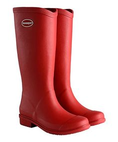 Loving this Ruby Red Matte Galochas Hi Rain Boot - Women on #zulily! #zulilyfinds