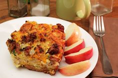 Egg, Sausage, and Hash Brown Casserole with Cottage Cheese