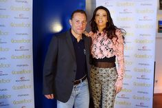 Interviews Official day - Golden Foot Award Monaco- Lorena Baricalla and Jean-Pierre Papin Wearing Gaetano Navarra    #lorenabaricalla #LB