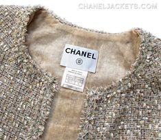 05P-BeigGldMltiCMtlcClscJckt-8-36-2 Chanel Jacket, Anna Wintour, Sheer Chiffon, Fringe Trim, Tweed Jacket, Summer Collection, Sequin Skirt, Jackets, Fashion