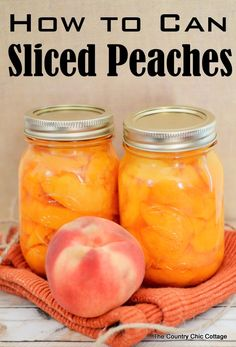 How to Can Sliced Peaches -- get the method with pictures at this link!