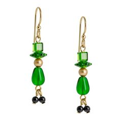 Wee Leprechaun Earrings | Fusion Beads Inspiration Gallery