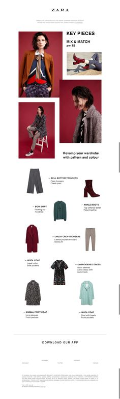 #newsletter Zara 10.2015 Key Pieces | Mix and match