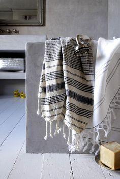 Turkish towels...from thelittlecorner.tumblr.com