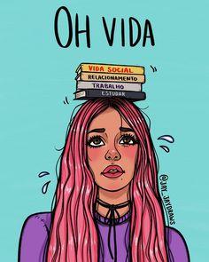 Como vocês lidam gente?💁🏻♀️ #vivendosemneura  #desenho #illustration #arte #girl #garota #problemas  #digitalart #vida #diaadia #help…