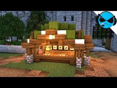 Welcome back to another Minecraft village tutorial. Today I will show you how to build a medieval market stall minecraft tutorial. Lego Minecraft, Minecraft Market, Minecraft Kingdom, Cute Minecraft Houses, Minecraft Castle, Minecraft Plans, Amazing Minecraft, Minecraft Construction, Minecraft Tutorial