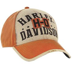 Harley-Davidson Overseas Tour Stacked H-D Ballcap Men's One Size Orange
