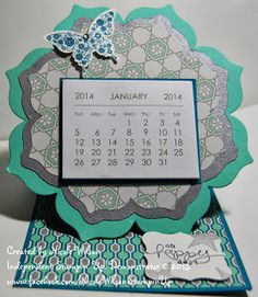 Handmade Calendar 2014 butterfly, island indigo, silver, coastal cabana. Nicole Wilson Independent Stampin' Up! Demonstrator www.nicolejuliewilson.blogspot.com.au www.facebook.com/NicoleWilsonStampinUp