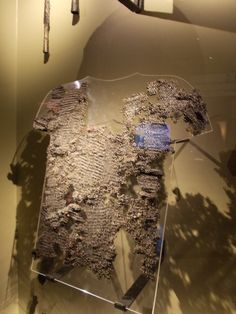 Gjermundbu mail shirt in Oslo museum - it is damaged, but still better preserved than other finds from Viking age.