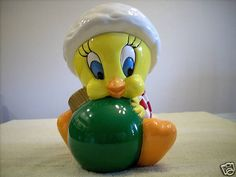 Tweety Bird Christmas Cookie Jar