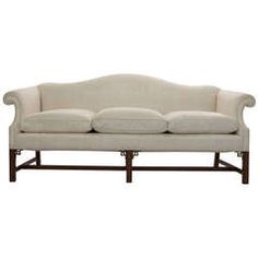 Camelback Mahogany Chinese Chippendale Style Sofa