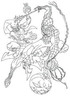 Spiderman Coloring Pages Green Goblin