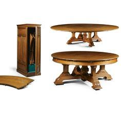 A large Victorian oak circular extending dining table circa 1890  SOLD. 90,000 GBP