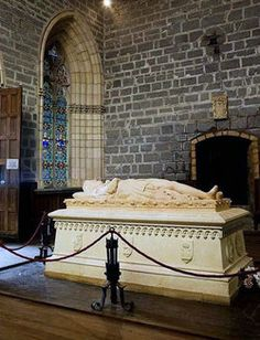 Tomb of King Sancho VII of Navarre *The Strong* (1154-1234) Collegiate Church of Saint Mary. Roncesvalles, Navarra, Spain