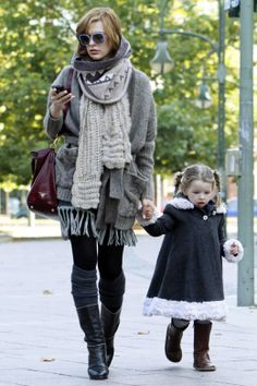 How to layer clothes - Milla Jovovich - They both look so cute.