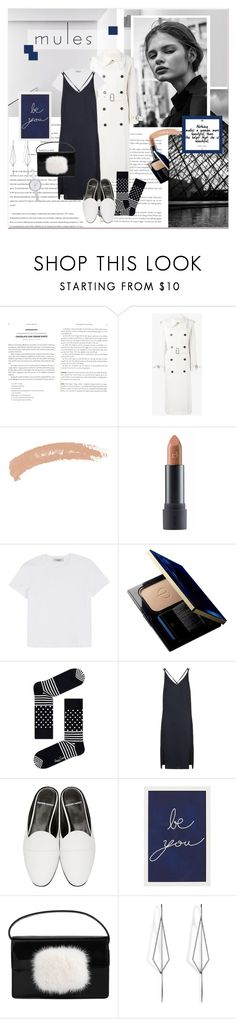 """#mules"" by stylemeup-649 ❤ liked on Polyvore featuring Behance, Acne Studios, Topshop, Bite, Valentino, Clé de Peau Beauté, Happy Socks, Pierre Hardy, Pottery Barn and Yves Saint Laurent"