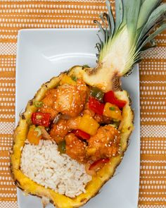 Pineapple Sweet & Sour Chicken Recipe by Tasty - Chicken Recipes Yummy Chicken Recipes, Seafood Recipes, Gourmet Recipes, Cooking Recipes, Healthy Recipes, Healthy Breakfasts, Healthy Soup, Restaurant Recipes, Recipes Dinner
