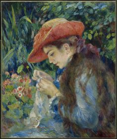 Pierre-Auguste Renoir (French, 1841–1919), Marie-Thérèse Durand-Ruel Sewing, 1882. Oil on canvas, 64.9 x 54 cm.