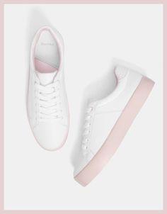 Zapatilla plataforma con piso rosa 20€