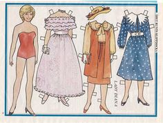 Lady Diana Spencer Princess Vintage 1980s Swedish Paper Doll Clothes | eBay