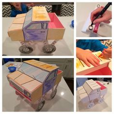 Oh so Cute! DIY Monster Truck Valentines Box with Pattern.