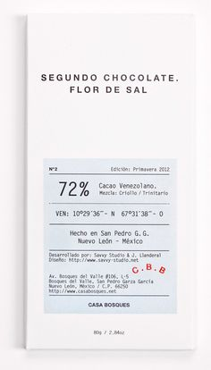 Casa Bosques Chocolates designed by Savvy Studio    Like the Typography