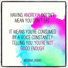 Help and recovery from anorexia.