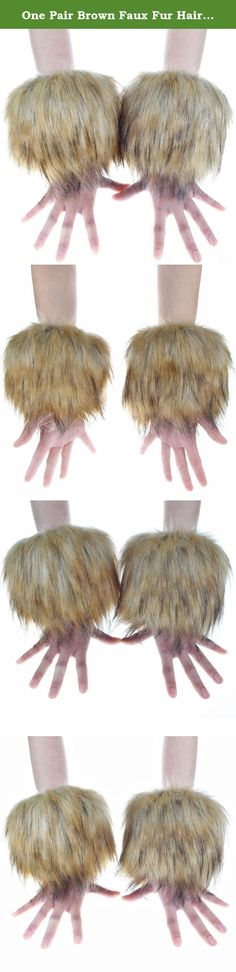 One Pair Brown Faux Fur Hair Soft Wrist Band Ring Cuff COZY FUZZY Warmer. • Fashion, stylish, versatile, soft, stretch, and comfy • Dry clean only. Do not wash,bleach or iron. Easily scrunched into boots • One pair per pack.
