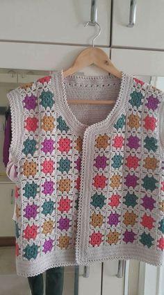 Crochet Waistcoat, Crochet Jacket, Crochet Cardigan, Crochet Yoke, Free Crochet, Crochet Patterns, Make And Do Crew, Baby Vest, Free Pattern