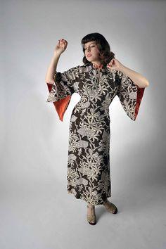 1940s Pake Muu // The Singapore Sling Rayon Dress by Malihini