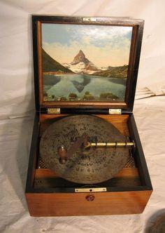 Antique Victorian Kalliope Disc Music Box 12 Discs | eBay
