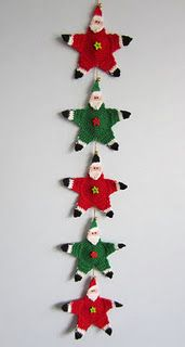 Santa garland free pattern (click on link). Vintage pattern. Thanks so for sharing this xox