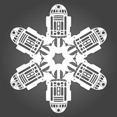R2-D2's paper snowflake.
