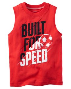 Baby Boy Built For Speed Muscle Tee | Carters.com