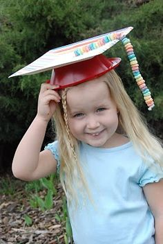 DIY Graduation Caps with disposable bowl, plate, and fruit loop tassel!!!!