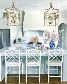 Counter Stools, Bar Stools, New Furniture, Furniture Design, Chippendale Chairs, Blue Cabinets, Home Decor Shops, Ballard Designs, Contemporary Rugs